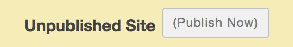 Publish Sakai site button