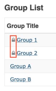 locked Sakai Groups