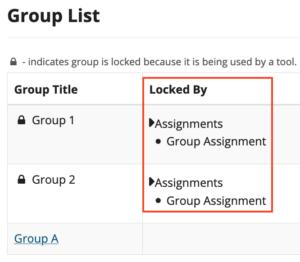 Sakai Group locked by tool name and item