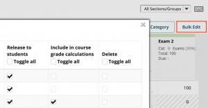 Gradebook bulk edit option