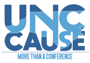U-N-C CAUSE logo with slogan more than a conference